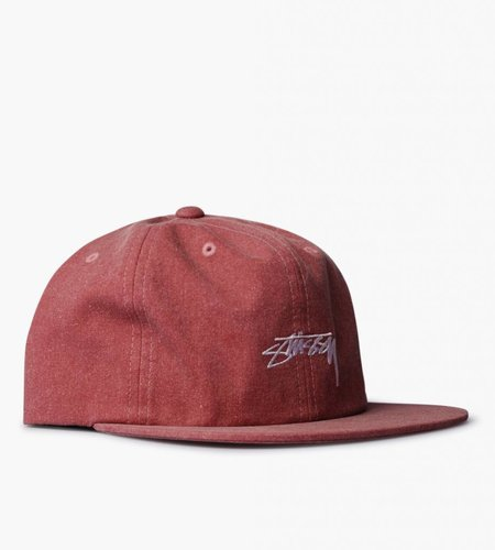 Stussy Stussy Washed Oxford Canvas Cap Red