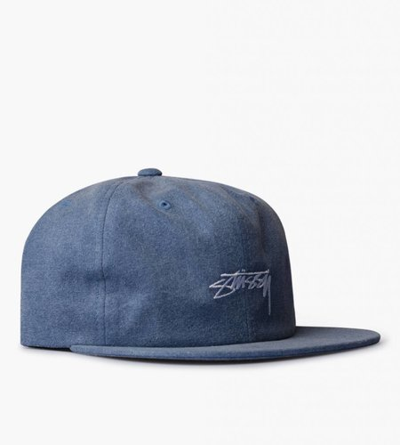 Stussy Stussy Washed Oxford Canvas Cap Navy