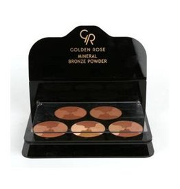 Golden Rose Mineral Bronze Powder Display