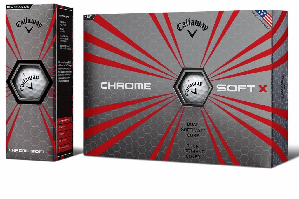 CALLAWAY Callaway Chrome soft X white 12-pac