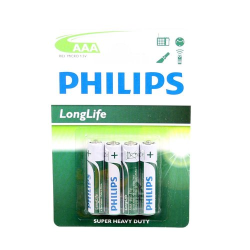 Philips batterij longlife AAA