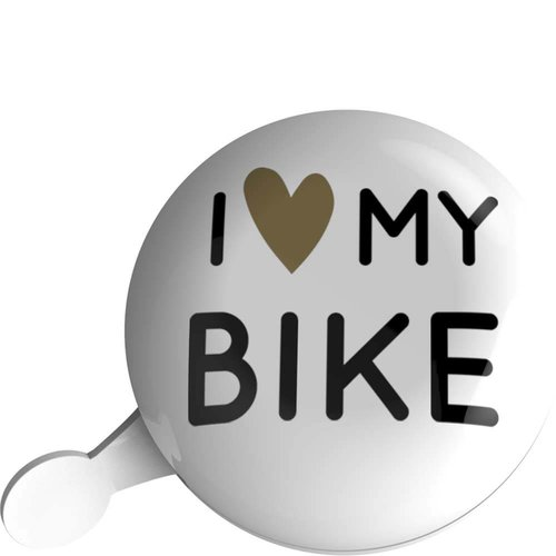 Urban Proof bel 80mm i love my bike wit