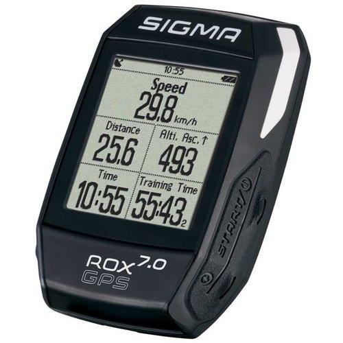 Sigma Sigma fietscomputer Rox 7.0 GPS zwart