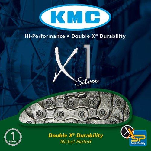KMC KMC ketting X1 zilver 3/32