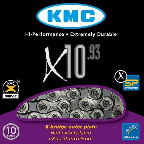 KMC KMC ketting X10 93 zilver/grijs