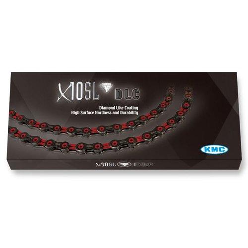 KMC KMC ketting X10 SL DLC zwart/rood