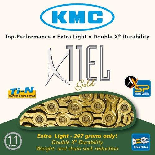 KMC KMC ketting X11EL Ti-Nx goud