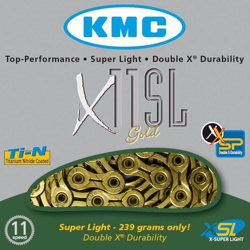 KMC KMC ketting X11 SL-Ti-N goud