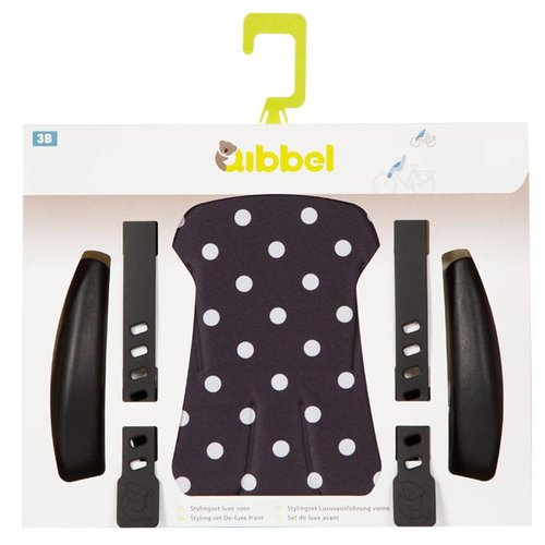 Qibbel stylingset voorzitje Polka Dot zw