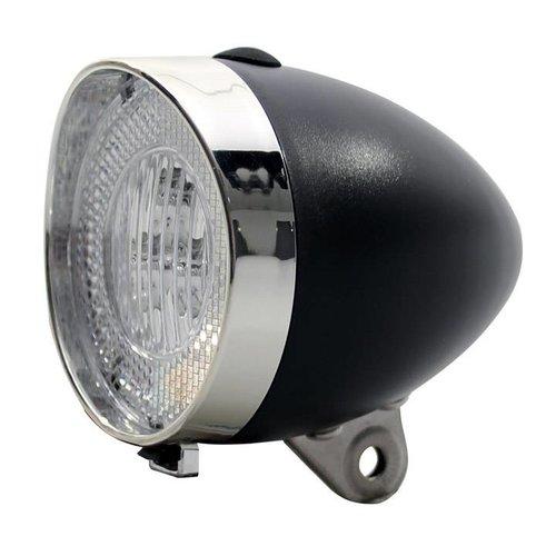Union  Union koplamp Retro Plus batt zwart