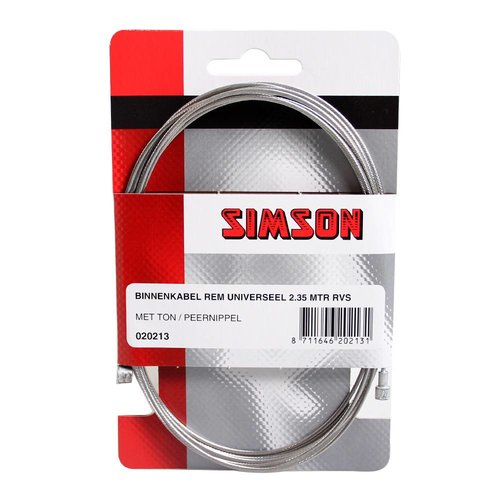 Simson Simson binnenkabel rem uni 2.35m RVS