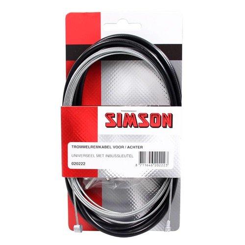 Simson Simson trommelremkabelset v/a zwart