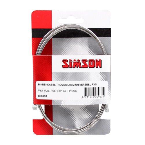 Simson Simson binnenkabel rem 2 nipp uni RVS