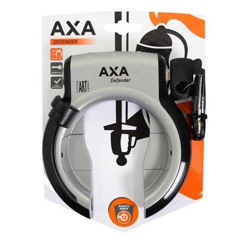 AXA Axa ringslot Defender zilver/zwart