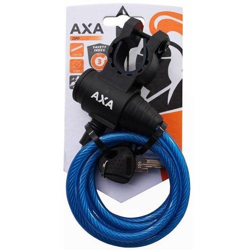 AXA Axa spiraal kabelslot Zipp 120/8 blauw