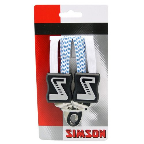 Simson Simson snelbinder kort wit/blauw