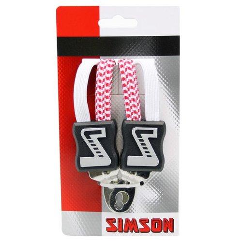 Simson Simson snelbinder kort wit/roze