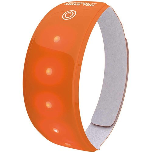 Wowow Lightband oranje XL Rode LED