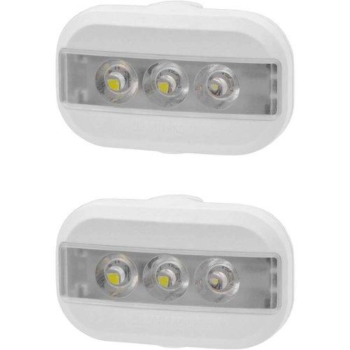 Urban Proof Clip Fietslampjes set Wit