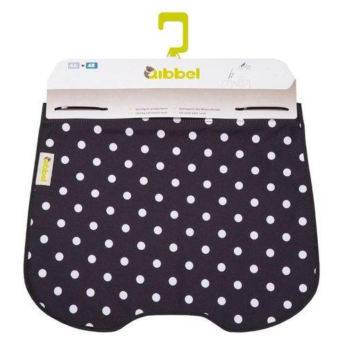 Qibbel windschermflap Polka Dot zwart