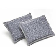 Pack of 10 scrubbing microfibre sponges 13 x 9 cm