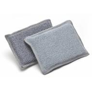 Pack of 10 Scrubbing microfibre sponges DUO 13 x 9 cm
