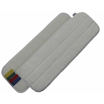Microfibre mop 44 cm white with velcro and colour coding