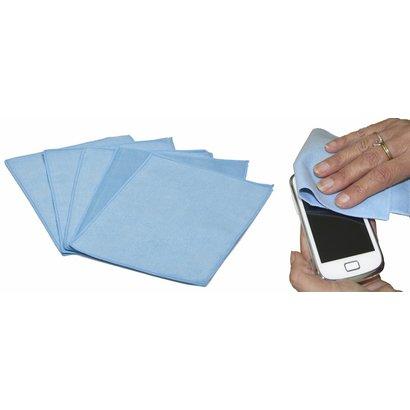 iPad – Smartphone microvezeldoekje 15 x 20 cm blauw (5 stuks)