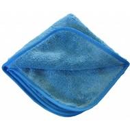 Sachet de 5 x Microfibre de lustrage ''POLISH'' 40 x 40 cm bleu