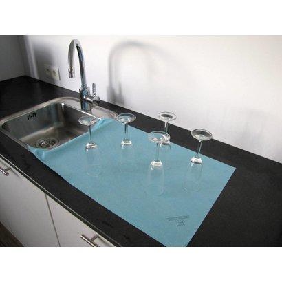 130 gr/m² Maxi-Mikrofasertuch Non-Woven 40 x 76 cm blau (Einzelverpackung)