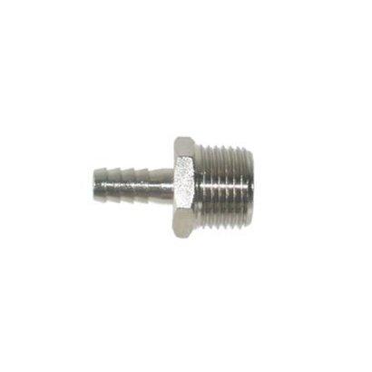 Schlauchstutzen Nickel-Messing 9 mm x ½