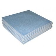 Microfibre sponge dishcloth 24 x 24 cm blue