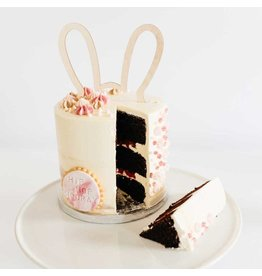 Oh So Pretty Party Caketopper Bunny wood