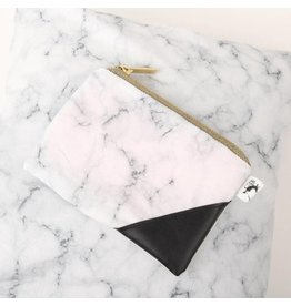 Juliette & Jules Clutch Marble & Black