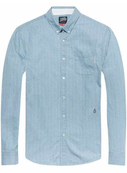 SCOTCH & SODA 141257 - Ams Blauw allover printed button down shirt - Kleur 20
