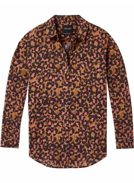 SCOTCH & SODA 143395 - Relaxed fit drop shoulder cotton viscose button up shirt in - Combo T - 99 - 18210120395