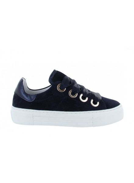 TANGO Katja 15-c dark blue Suede/Satin Laces/bigring - White sole