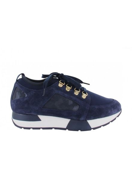 TANGO Oona 9-a Blue army/suede/neoprene combi D rings - Dark blue/White sole