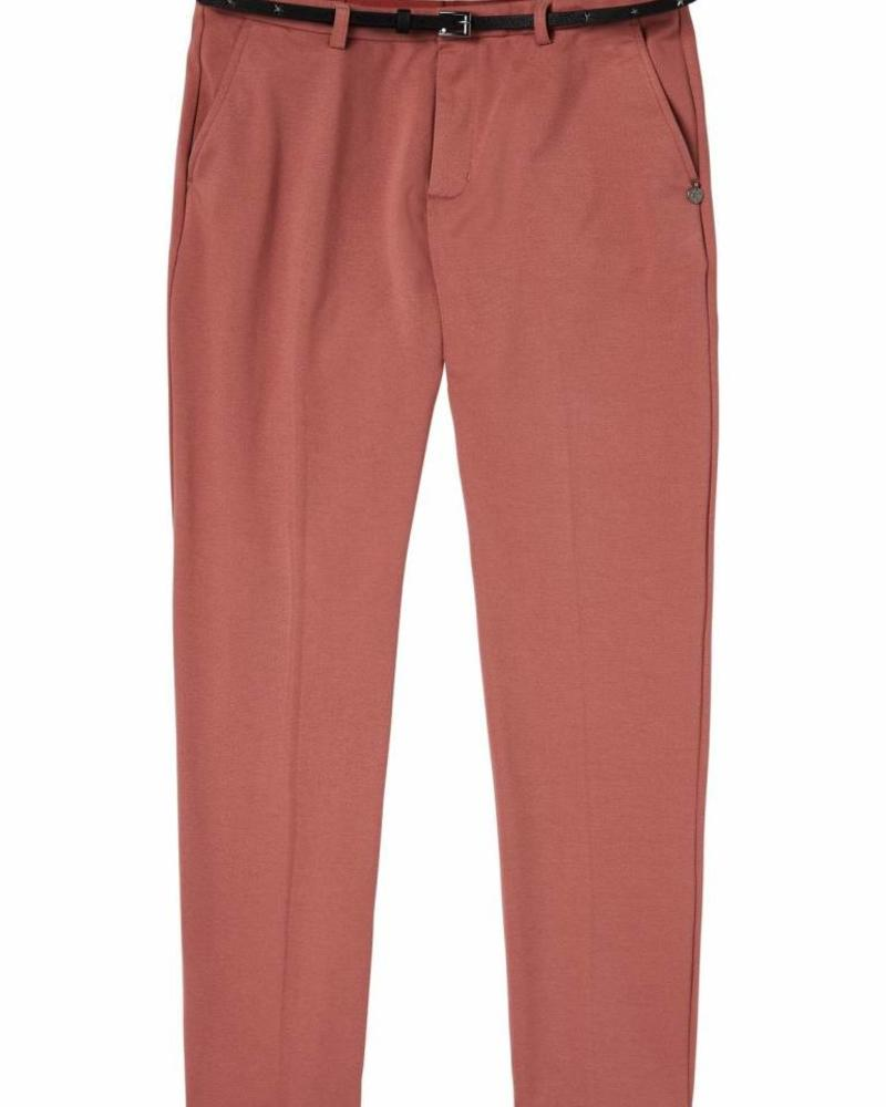 SCOTCH & SODA 143544 - Tailored sweat jogger, sold with a belt / Tailored sweat pan - Dusty Rose - 494 - 18210183544