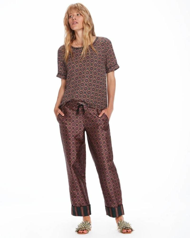 SCOTCH & SODA 143432 - Short sleeve printed top with ladder inserts - Combo C - 19 - 18210153432