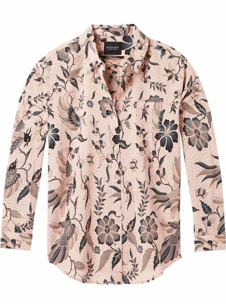 SCOTCH & SODA 143395 - Relaxed fit drop shoulder cotton viscose button up shirt in - Combo B - 18 - 18210120395
