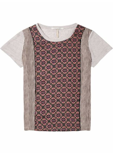 SCOTCH & SODA 143757 - Jersey and woven mixed photo printed tee with ladder tape in - Combo C - 19 - 18210151757