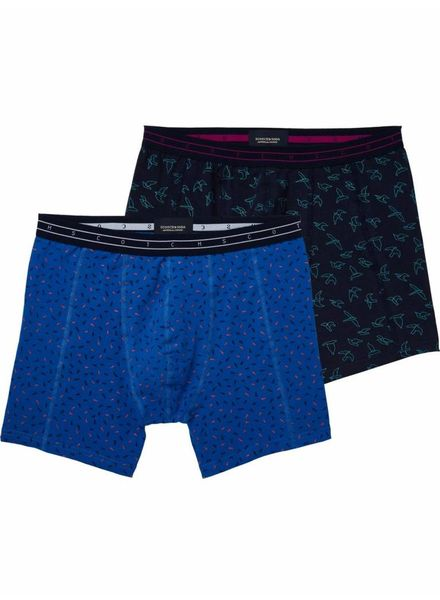 SCOTCH & SODA 142277 - Allover printed multi color boxer - Combo B - 218