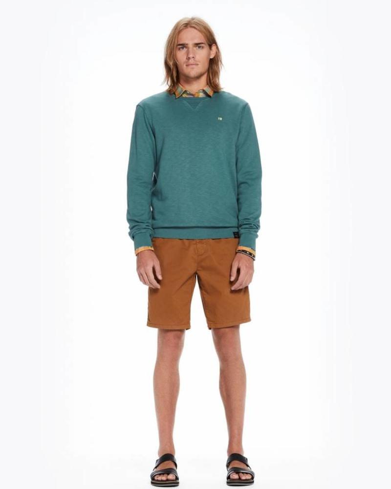 SCOTCH & SODA 142567 - Classic garment-dyed crewneck sweat - Seafoam Green Melange - 2062