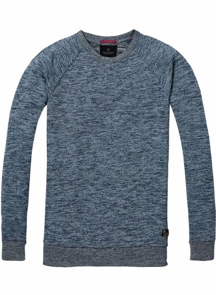 SCOTCH & SODA 142566 - Crewneck sweat in multicolour melange felpa quality - Combo D - 220