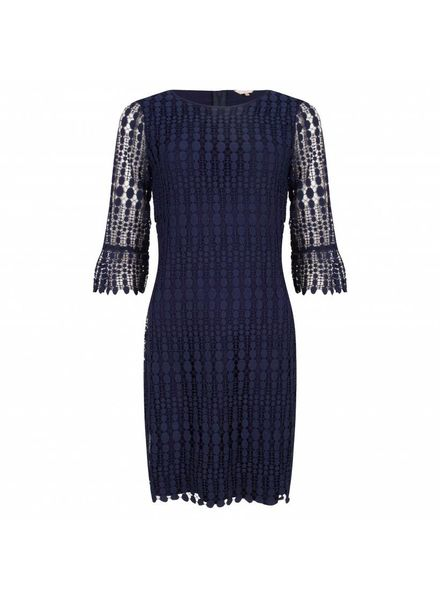 ESQUALO Dress lace 3/4 slave - Navy