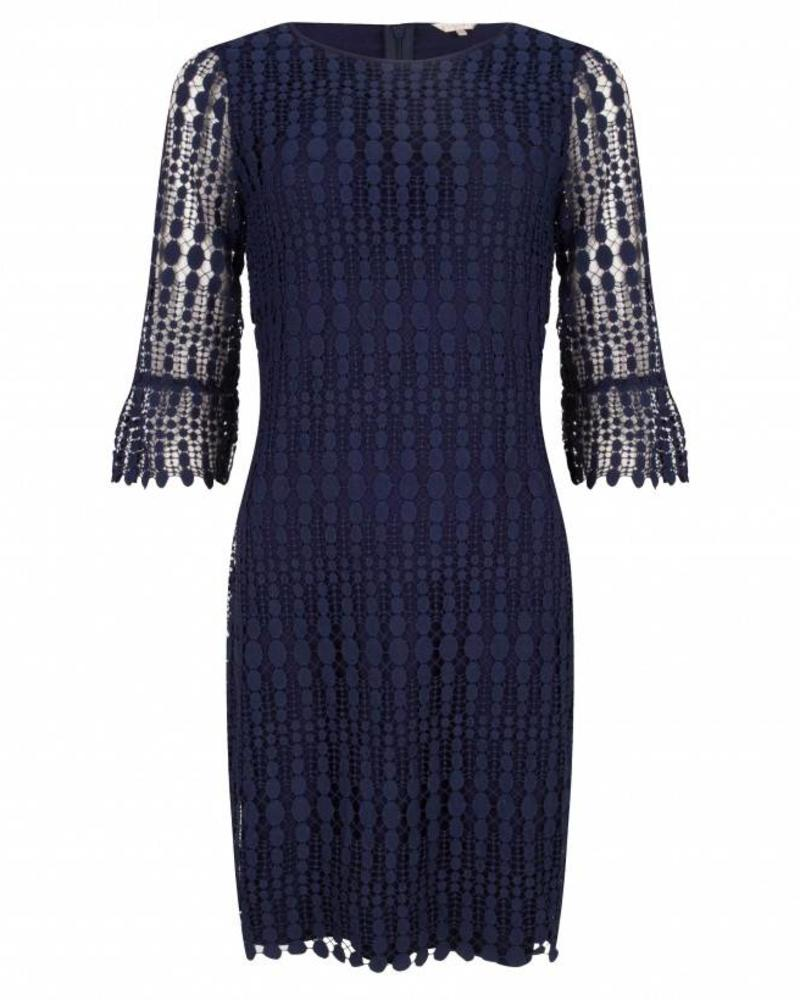 ESQUALO Dress lace 3/4 slave - Navy