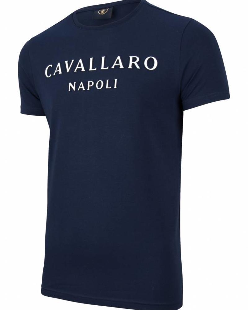 CAVALLARO Miraco Tee - Dark Blue - 63000