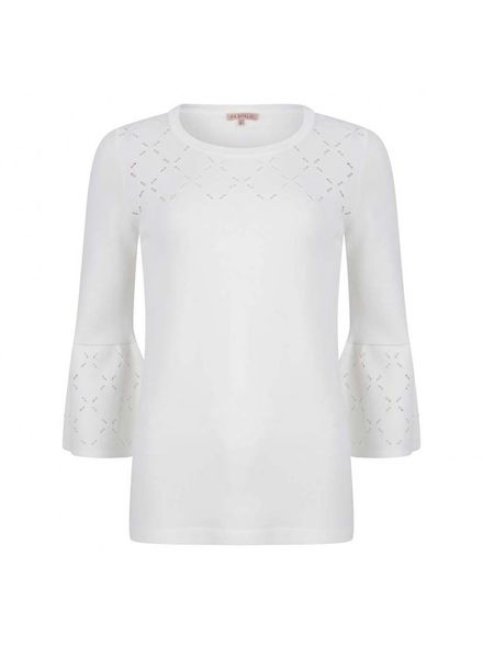 ESQUALO Sweater ajour knit - Off White