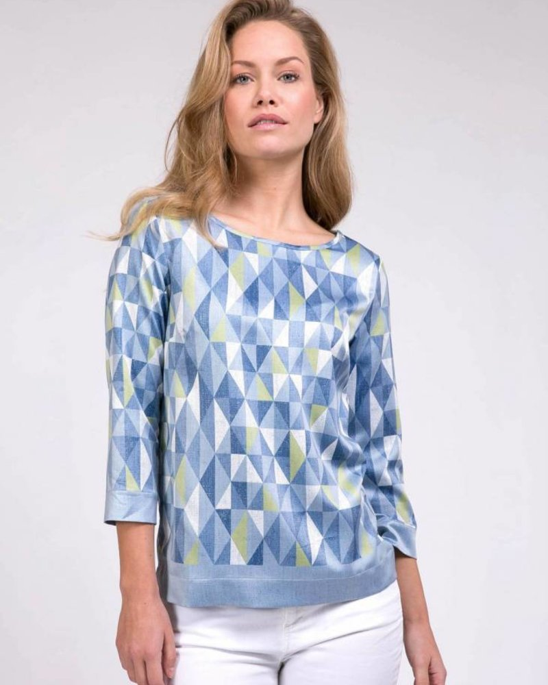 CAVALLARO Grafica Top - Medium Blue - 62513